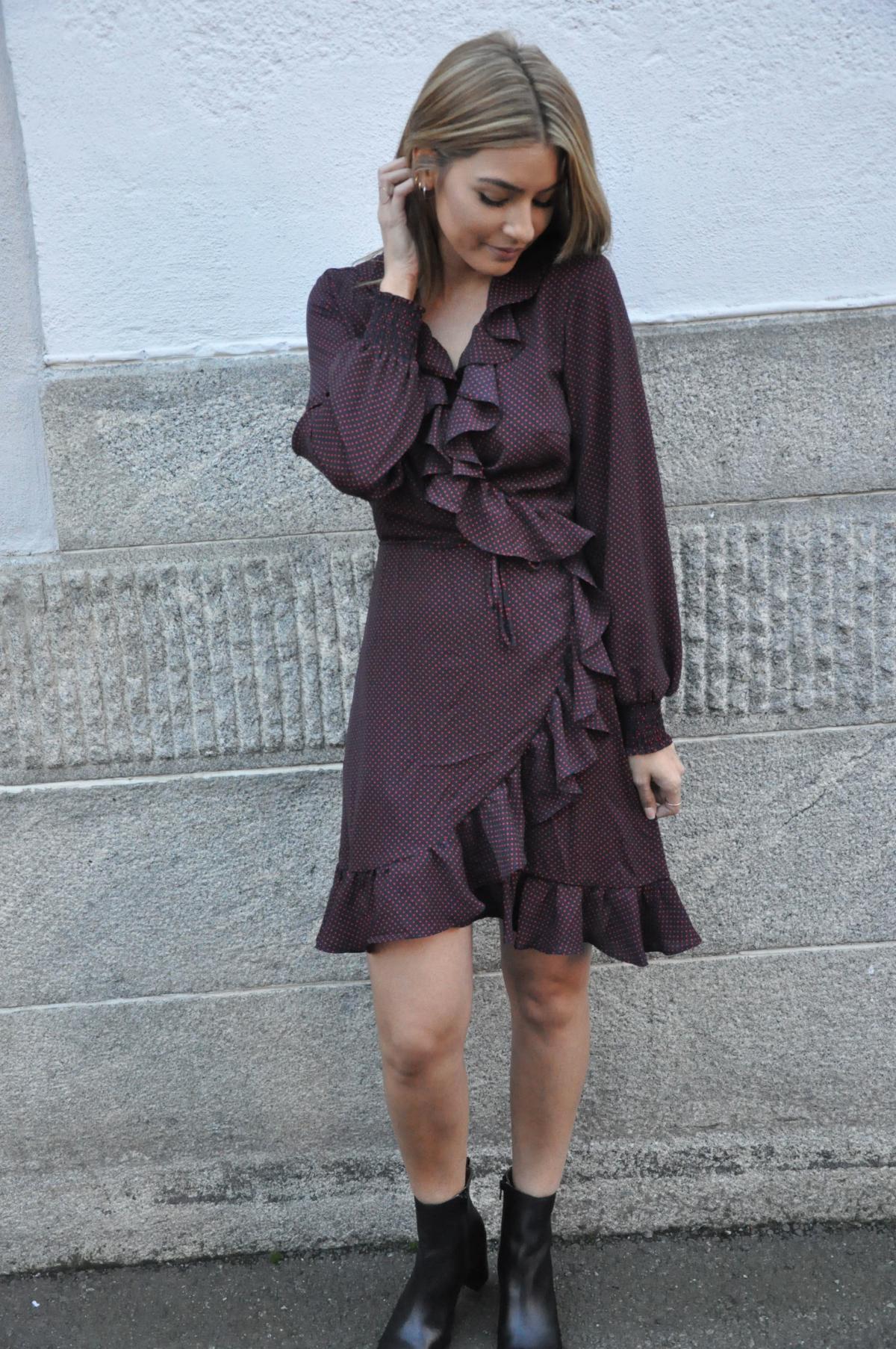 8e4ac771 Hiro wrap dress blå/rød JUST FEMALE - Seven