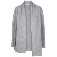 (493) Edge to edge cashmere cardigan Grå