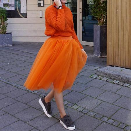1d4e66a2 OOTD tutulove II Orange Tyllskjørt - CeCi