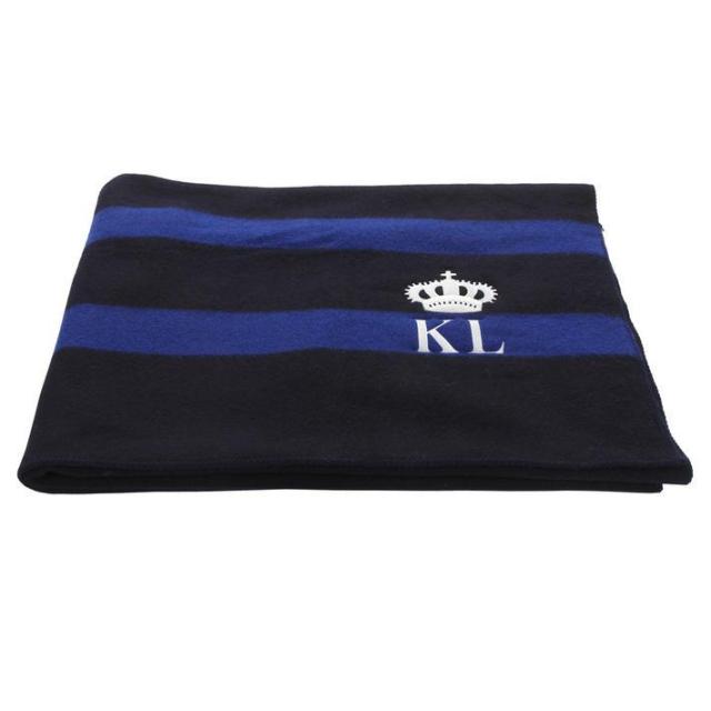 Kingsland Ullteppe Navy/blå