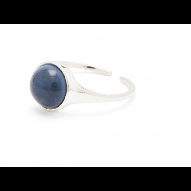 Fall Ring Silver Twilight Blue