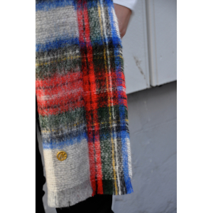Big Check Scarf Red