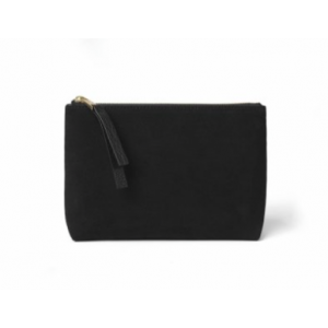 Pouch Big Black Suede