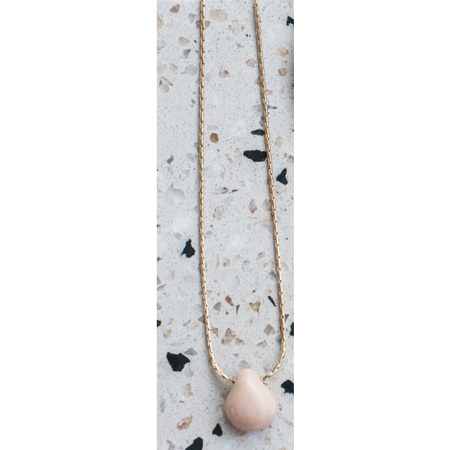 GOLDPLATED CHAIN WITH PORCELAIN
