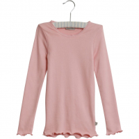 Rib T-Shirt Lace LS