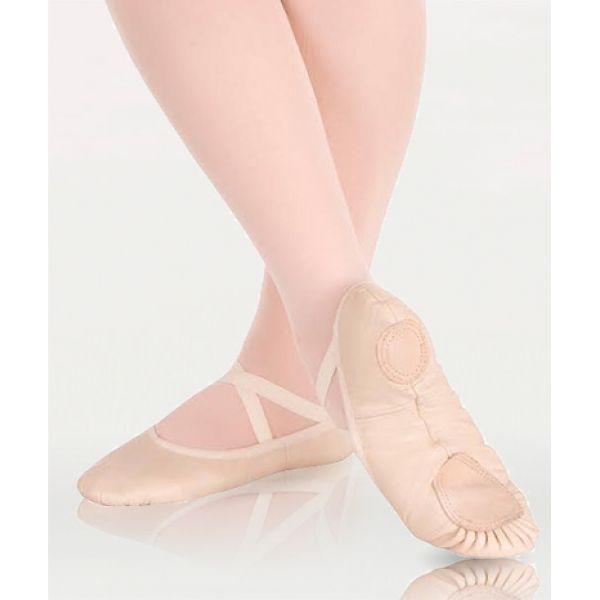 Ballettsko i skinn med delt såle