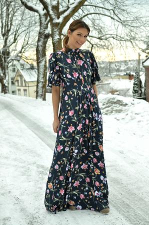 Tie Back Gown - Valentina Blue