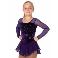 Rhinestone Dress Purple