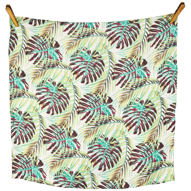 Palm Leaves Silk Scarf