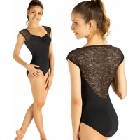 "So Danca leotard ""Floral"" med blonder"