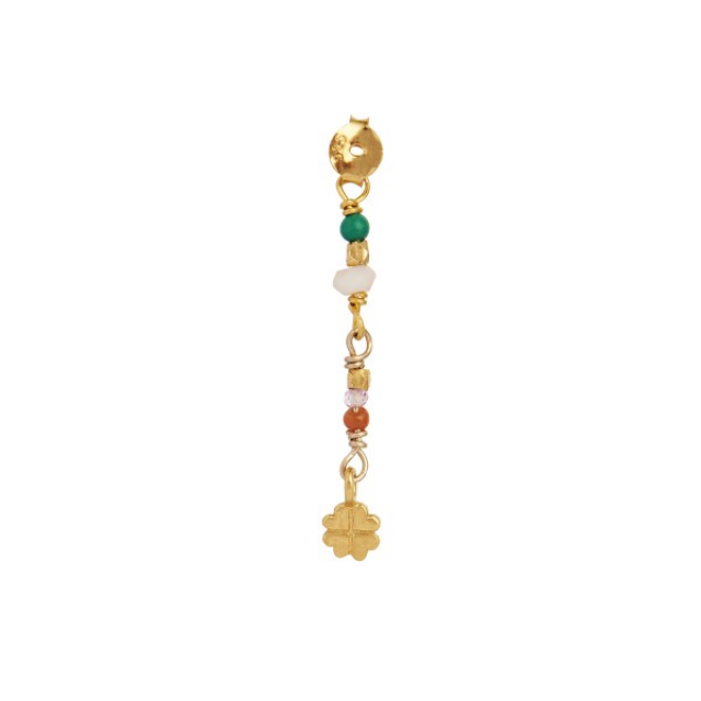 PETIT STONES AND CLOVER BEHIND EAR EARRING