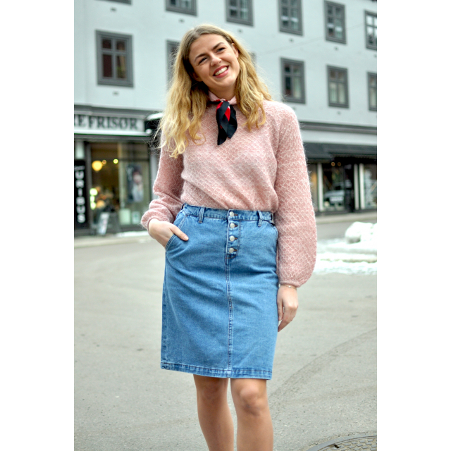 Skyler Midi Denim Skirt