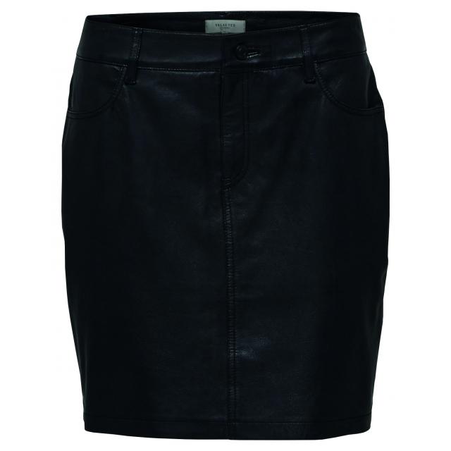 Jessie Leather Skirt