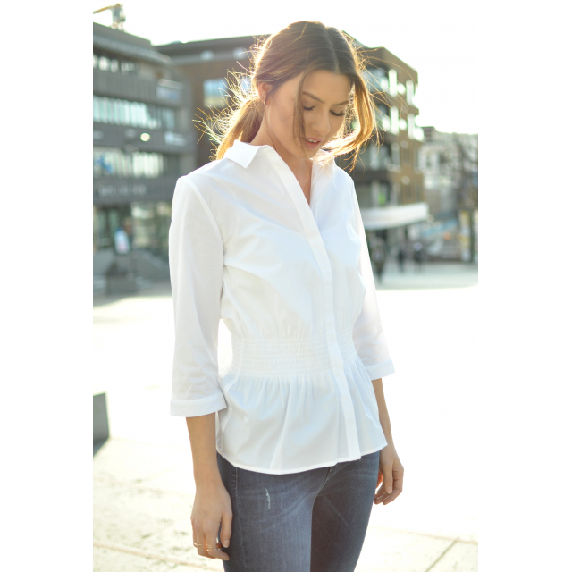 CAMILLE SMOCK SHIRT - SNOW