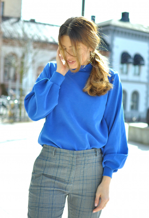 TEA HIGHNECK SWEAT - BLUE