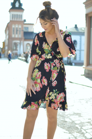 Semi Couture Wrap Dress - Camelia
