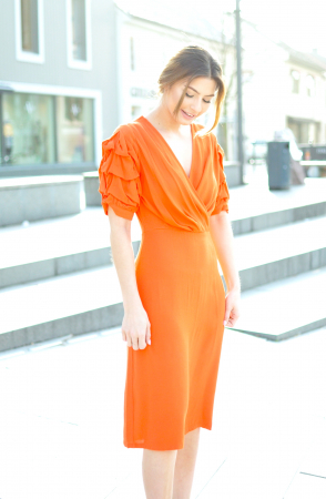 IRENA DRESS - SPICY ORANGE