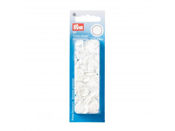 Plast trykknapp hvit