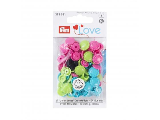 Plast love trykknapper blomster