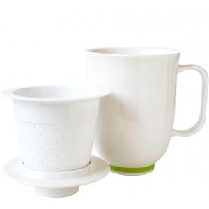 Steeping Mug Hvit/Grønn