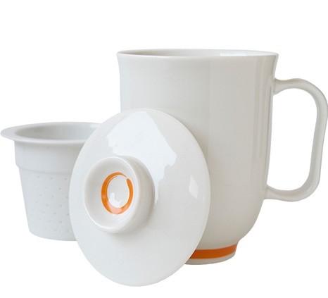 Steeping Mug Hvit/Oransje