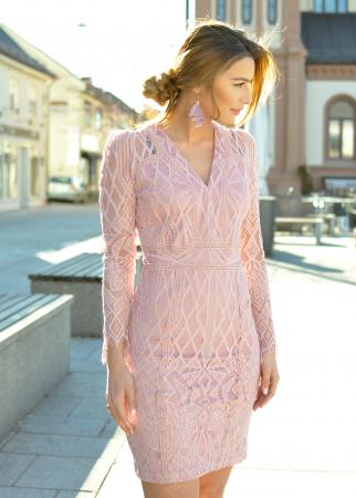 Miranda Dress-Misty Rose