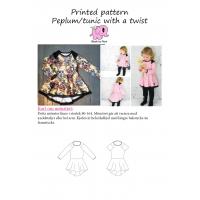 Peplum tunic with a twist barn str 80-164