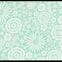 Aqua Floral pop