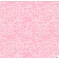 Pink Swirl Scroll FLANELL