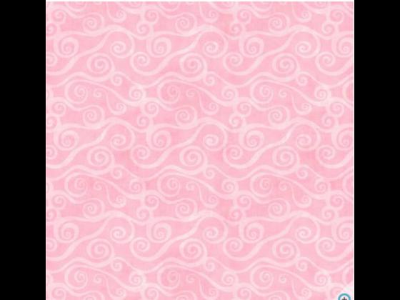 Pink Swirl Scroll FLANELL