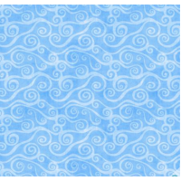 Blue Swirly Scroll FLANELL