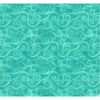Teal Swirly Scroll FLANELL