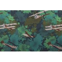 1 meter Jersey print  med fly  grønn
