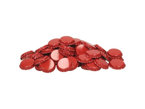 26 mm Røde Flaskekapsler