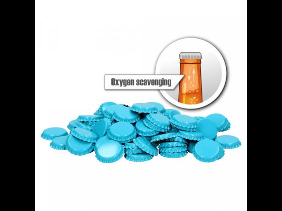 26 mm Oksygen absorberende kapsler - lys blå