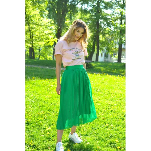 MUKY PLISSE SKIRT - GREEN