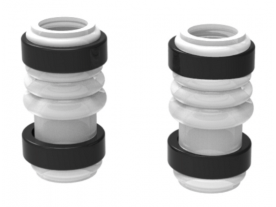 GF Top/Bottom Pump Silicone Tubes (2) with Fixing Rings (4)