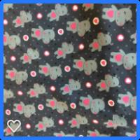Jersey print  med grå flothest .1 meter