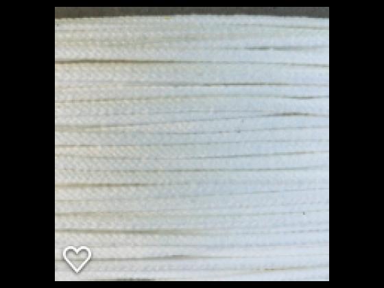 Anorakksnor hvit  3 mm