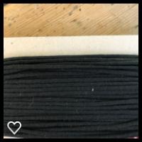 Anorakksnor svart  3 mm