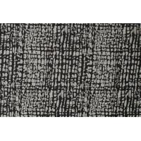 Jaquard abstrakt mønster svart/hvit