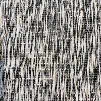 Chanel look svart og hvit stripetmed gulltråd