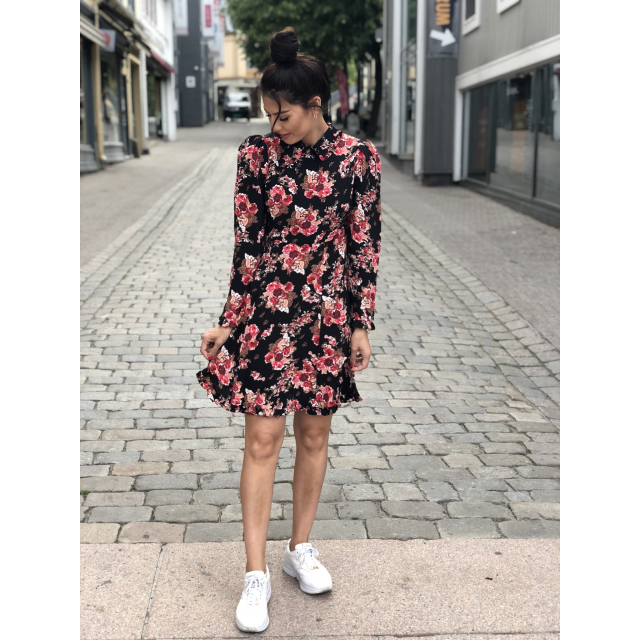 Printed Collar Dress - Rose Tapestry