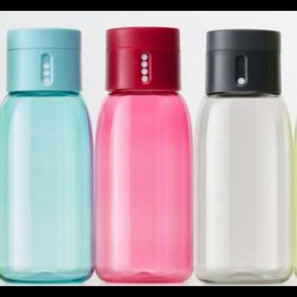 Dot vannflaske rosa