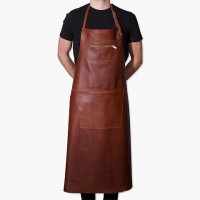 Amazing apron extra long brown