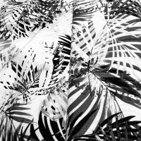 Lin  med botanisk mønster