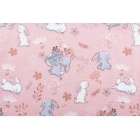 Jersey med kaniner på rosa bunn
