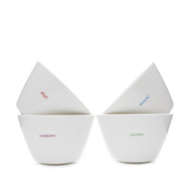 Set of snacks bowls