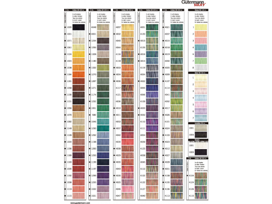 Bestill helt fargekart sammen med trådbestillingen din