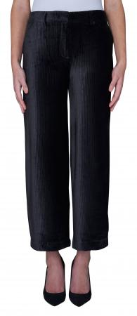 Eloise Crop Pants Black Corduroy